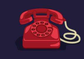 rotary-telephone-vector-illustration